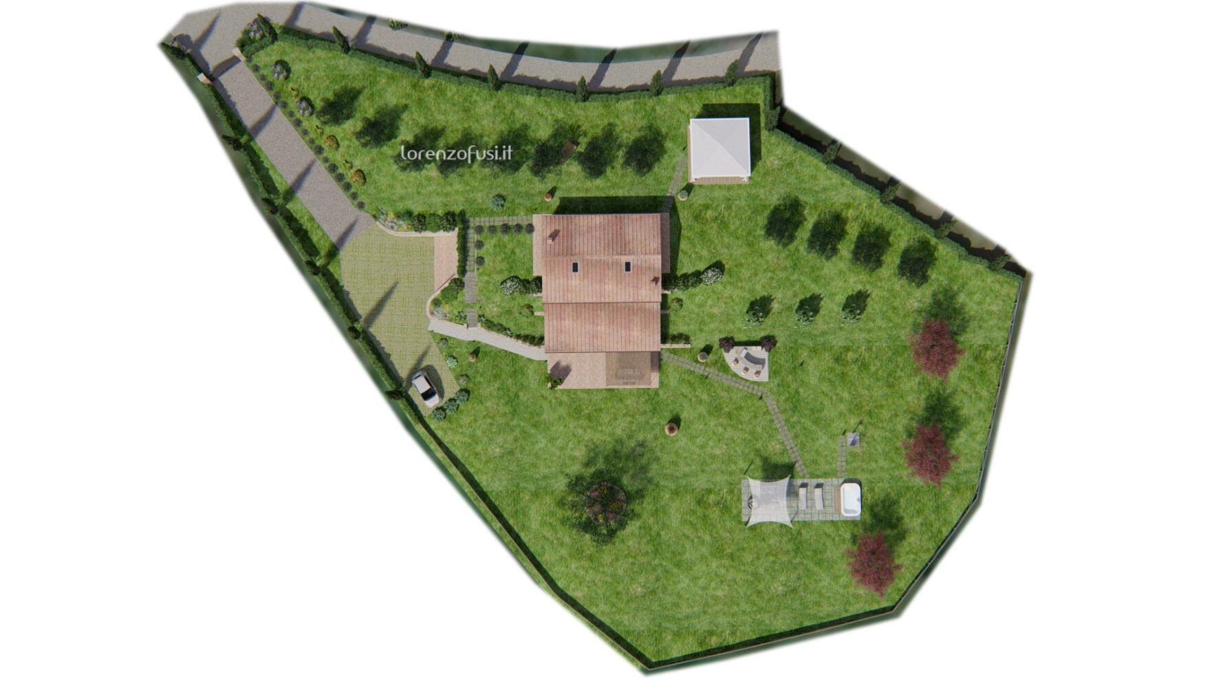 planimetry of the property land