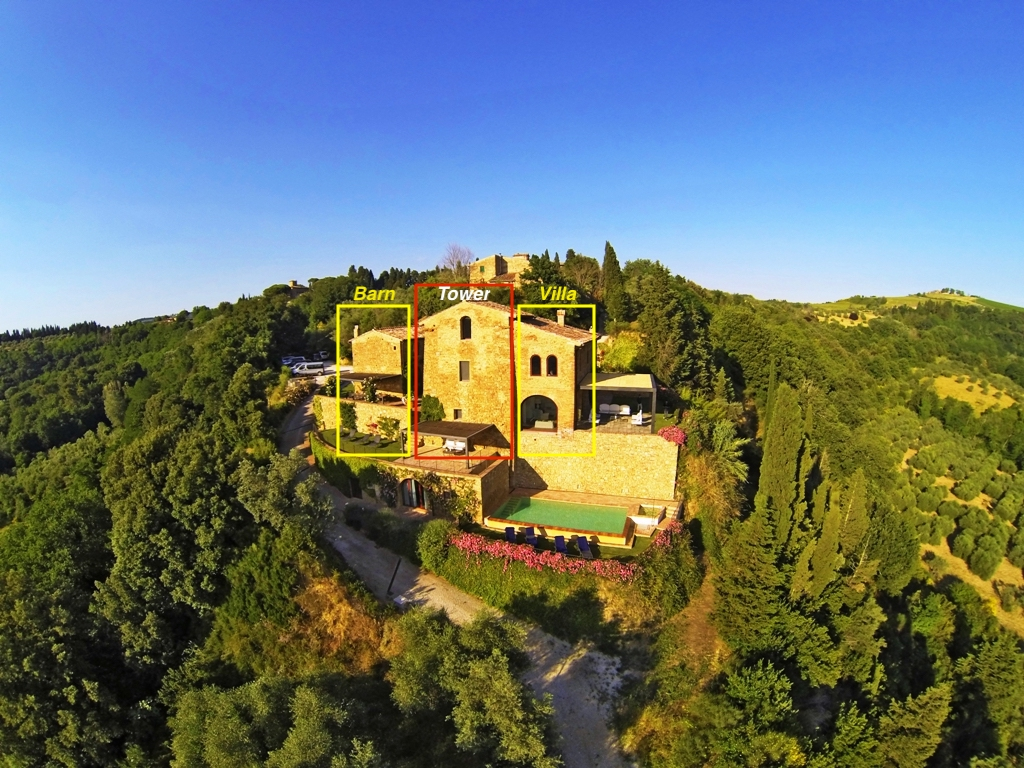 villa tuscany countryside