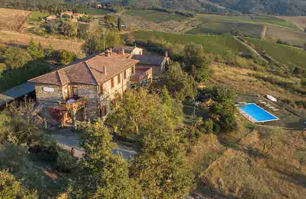agriturismo giovanni aerial view
